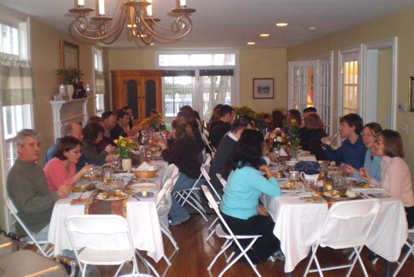 Our Thanksgiving dinner gathering